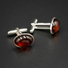 Baltic amber and sterling silver cufflinks, Leo gift
