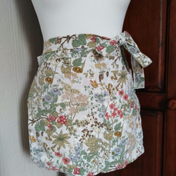 Half apron, peg apron, large pocket