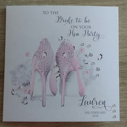 Hen Party Celebration Card - Bride To Be