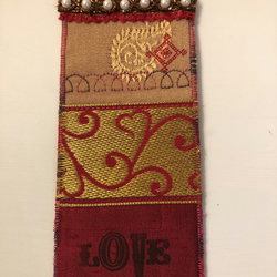 LOVE embroidered bookmark