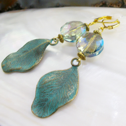 Long Leaf Designed Earrings, Unique Earring Design FE94