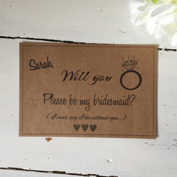 Will you be my bridesmaid flat card bridesmaid request