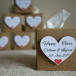 Happy Tears tissue boxes favours