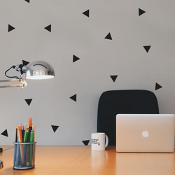 Peal and stick small triangles wall stickers modern pattern decals