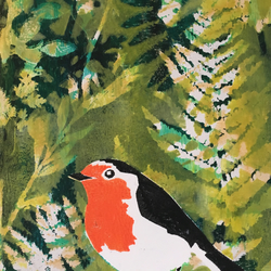 Robin in the Garden - unframed print