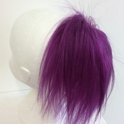Purple human hairpiece scrunchie Ponytail hippie punk