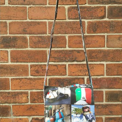 handmade Italian moped messenger bag
