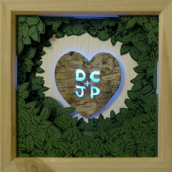 Personalised, framed tree carving - A Hand crafted, three-dimensional, artwork