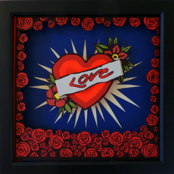 Love Hurts - A Hand crafted, three-dimensional, artwork & light box