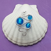 Beautiful Blue Swirl pendant