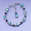Beautiful Blue Green Crystal cubes Bracelet