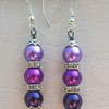 Gorgeous Purple glass pearl Earrings