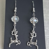 Gorgeous Reindeer Charm Festive Earrings with crystals