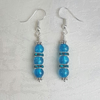 Beautiful Blue Glass Bead Earrings