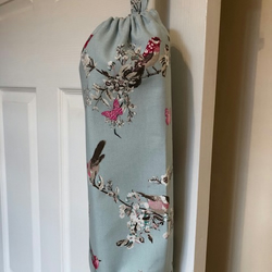 Shabby Chic Carrier Bag Holder - Beautiful Birds Bird Duck Egg