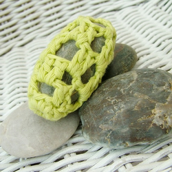 Pebble Paperweight - Lime Green