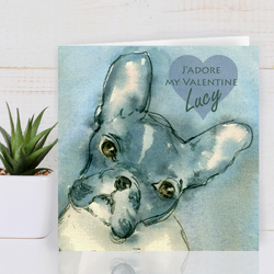 Personalised Valentine Card, French Bulldog