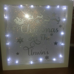 Personalised Light Up Box Frame Folksy