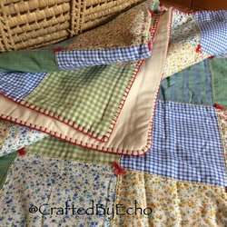 Cosy Patchwork Quilt, 'The Garden Party'