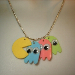 Pac-Man Charm Necklace