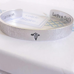 Aluminium MEDICAL ALERT BRACELET - Custom Text Adjustable Cuff HYPOALLERGENIC