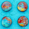 Fluid Art Hot Blue 3 Magnets