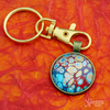 Cool Bubbles Fluid Art Keyring