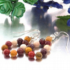 Earrings with Mookaite sterling silver