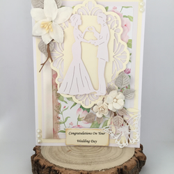Handmade Wedding Card, Luxury Card, Wedding Card, Bride and Groom Card