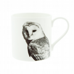 Barn Owl Fine Bone China Mug - FREE UK DELIVERY -  Large Barn Owl Mug White