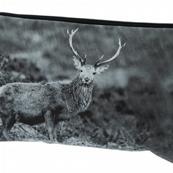 Highland Stag Luxury Wash Bag - FREE UK DELIVERY - Monochrome