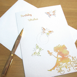Fairy and Butterfly Watercolour Birthday Card