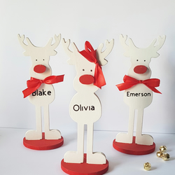 Personalised Reindeer - Rudolph Reindeer - Free Standing - Christmas Decoration