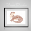 Personalised Otter Design Word Art Gifts