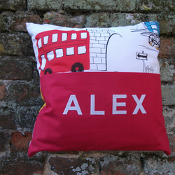 A Stunning Personalised Story Book Cushion Cover For Any Little Boy