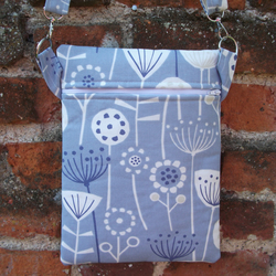 A Shoulder, Tote, Messenger, Travel, Cross Body Bag In Bergen Blue Fabric