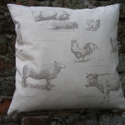 "A Beautiful  Cushion Cover in Fryette's "" Farmyard """