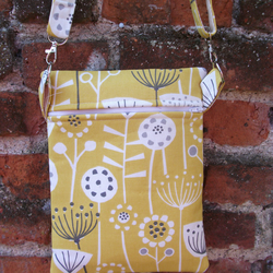A Shoulder, Tote, Messenger, Travel, Cross Body Bag In Bergen Yellow Fabric