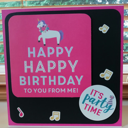 Happy birthday to you , unicorn card, for her.