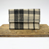 Sustainable Check Linen Envelope Clutch - Handwoven & Handmade