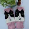 Cat Fingerless Mittens, Wristwarmers, Winter Mittens