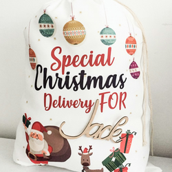 Personalized Christmas Eve Bags Christmas gifts... - Folksy