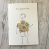Husband birthday card, Personalised, Cards for men