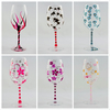 Wine glasses to order, hand painted colourful glasses