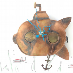 Submarine Clock with Anchor