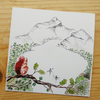 Red Squirrel - Art Print Blank Card