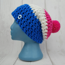 Trio Slouch Bobble Hat - Adult